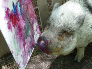 Miss Piggy Auggie Painting May 2012 012