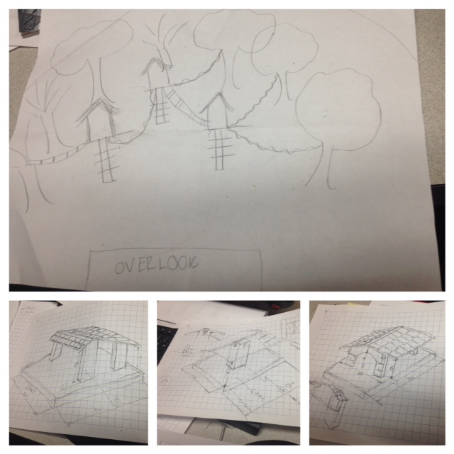 "My ""awesome"" drawing on the top and David's actually awesome drawing on the bottom!"