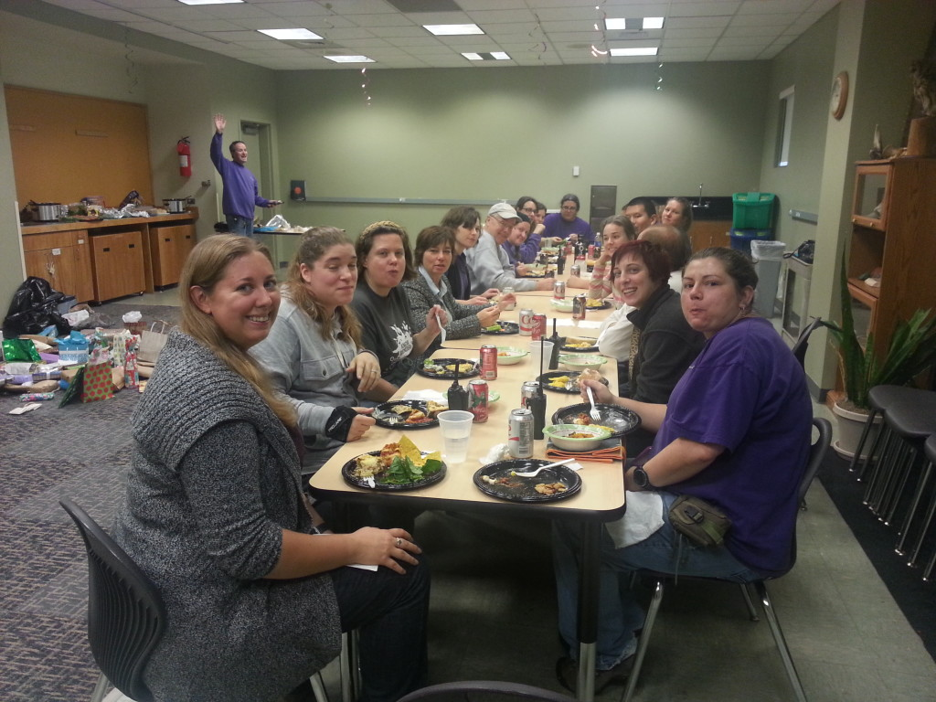 Our department holiday potluck